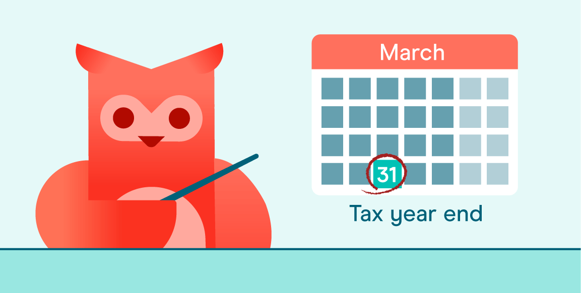 Calendar showing March 31st tax year end